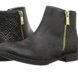 Ivanka Trump Nancy diamond black ankle booties